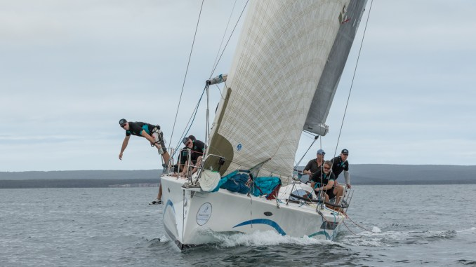 Port Lincoln boat Fresh sits second overall on IRC after the first day of racing. Photos: Take 2 Photography