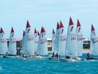 Sabres sailing at Safety Bay Yacht Club. Photo: HK Photography