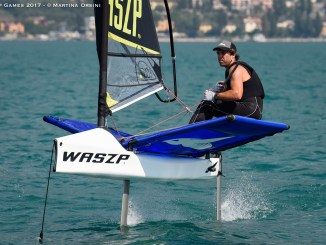 Harry Mighell (AUS) won the inaugural WASZP Games. Photo: Martina Orsini