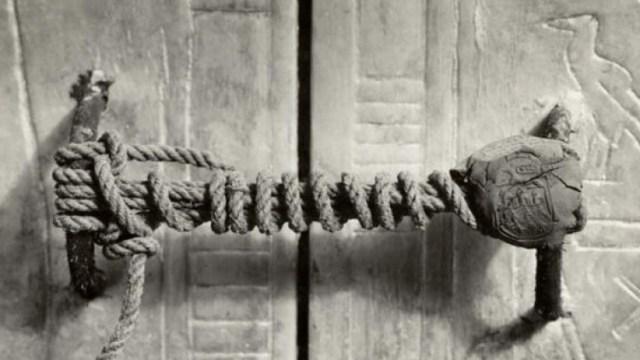 Unbroken Seal Of King Tut's Tomb, 1922
