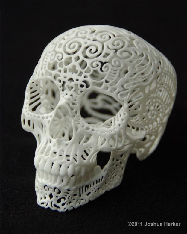 Crania Anatomica Filigre 3d printed skull: iso