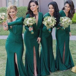 Aweinspiring Long Sleeve Emerged Green Bridesmaid Modest Long Bridesmaid Bridesmaid Long Sleeve Emerged Green Bridesmaid Modest Long Bridesmaid Long Bridesmaid Dresses Sage Long Bridesmaid Dresses Sle
