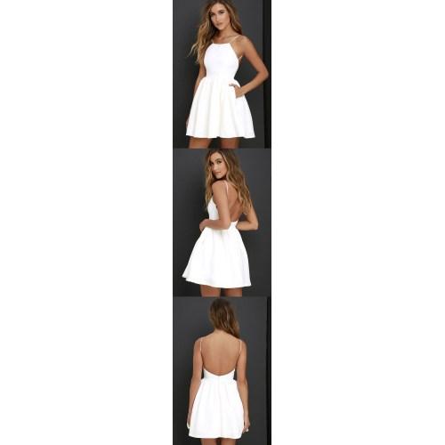 Medium Crop Of Simple White Dress