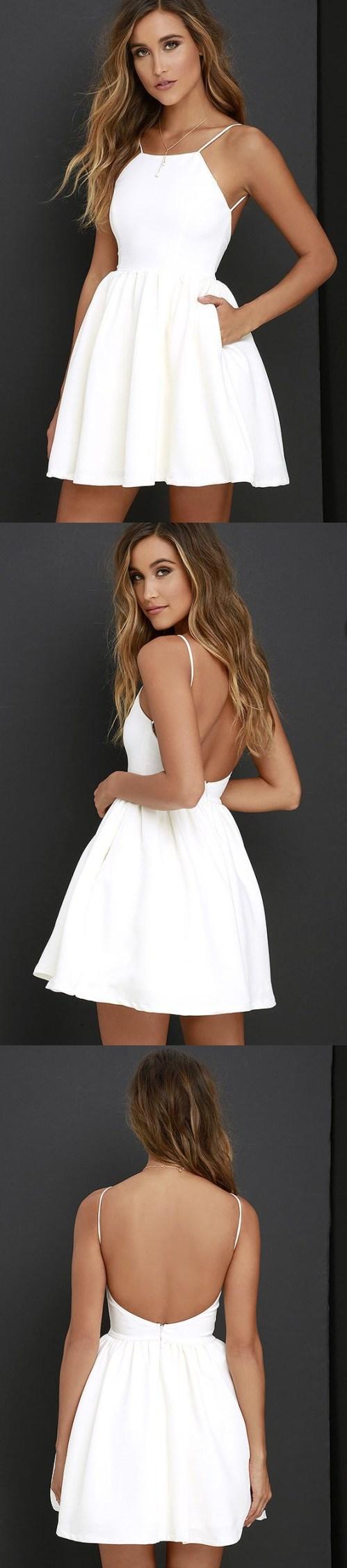 Medium Of Simple White Dress