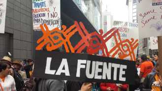 La Fuente at May Day rally 2015