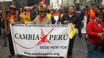 Cambia Peru at May Day rally 2015