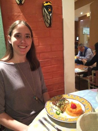 Last meal in France, fish and sweet potatoes.