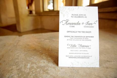 Our wedding invitation, designed by moi. Letterpress.