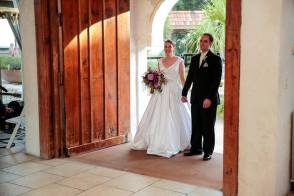 Being announced as Mr. & Mrs. Guerassio into the reception.