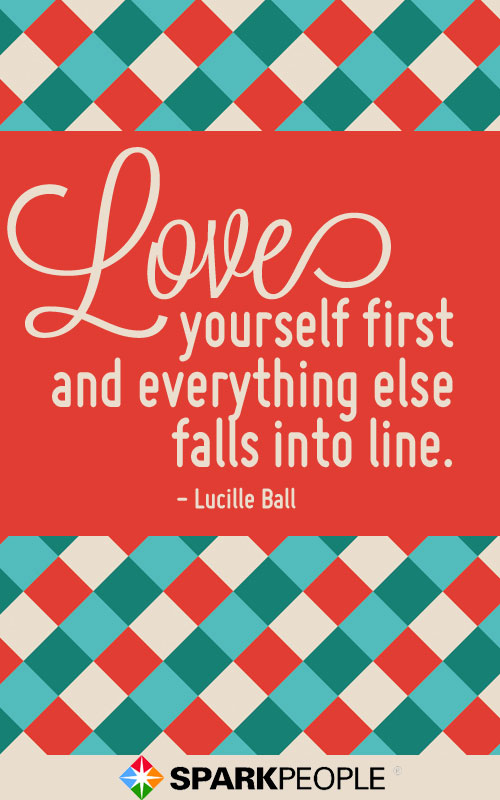 Lucille Ball Love Yourself quote