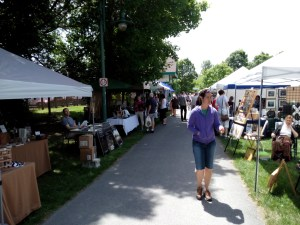 A view down the main pathway at Arts in the Park 2015