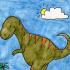 كيفية رسم ديناصور خطوة بخطوة