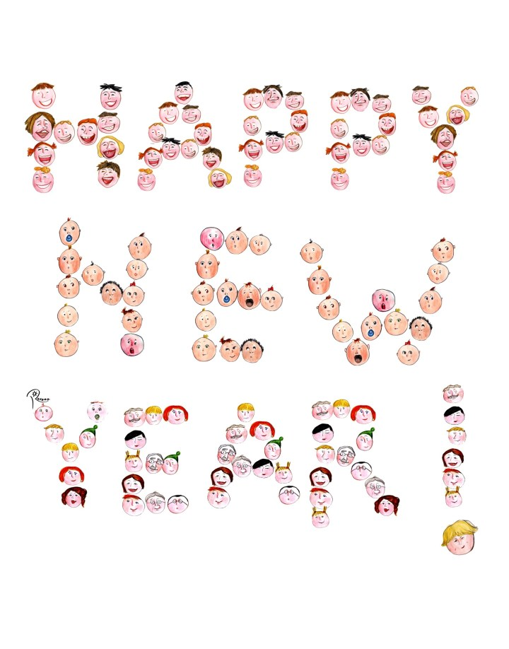 Happy New Year From Drawforjoy4 Happy New Year. 1835 x 2340.Funny Happy New Year Cartoons