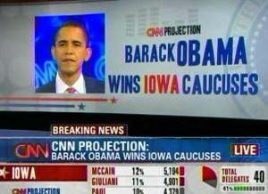 obama wins iowa caucuses 2008
