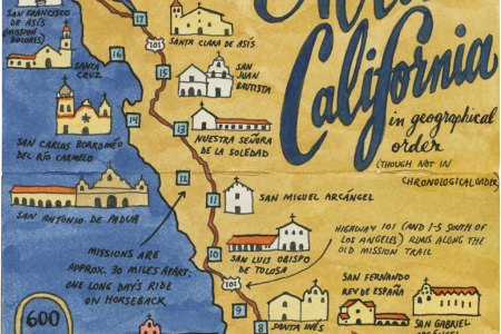 Map Of The California Missions - California missions map