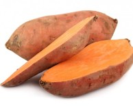 raw sweet potatoes sliced