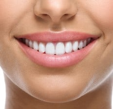 healthy teeth and gums, bright white smile
