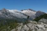 Glaciers to the northwest