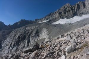 Remnants of Middle Palisade Glacier