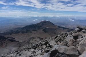 Climbing on the upper ridge