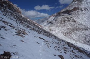 Climbers' trail and Gunsight Pass