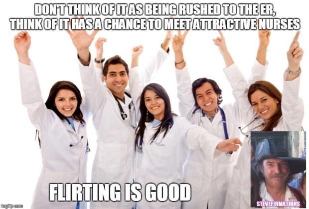 flirting is good nurses