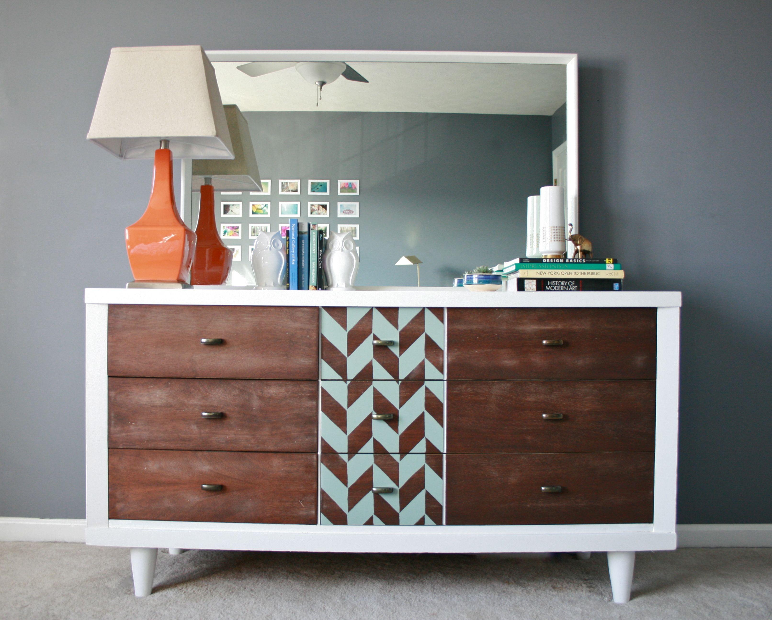 Modern A Makeover Via Royal Design Studio Dream Mid Century Dresser Legs Mid Century Dresser Ikea houzz-03 Mid Century Modern Dresser
