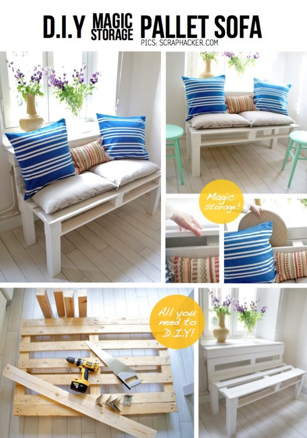 diy pallet projects the best reclaimed wood upcycle ideas. Black Bedroom Furniture Sets. Home Design Ideas