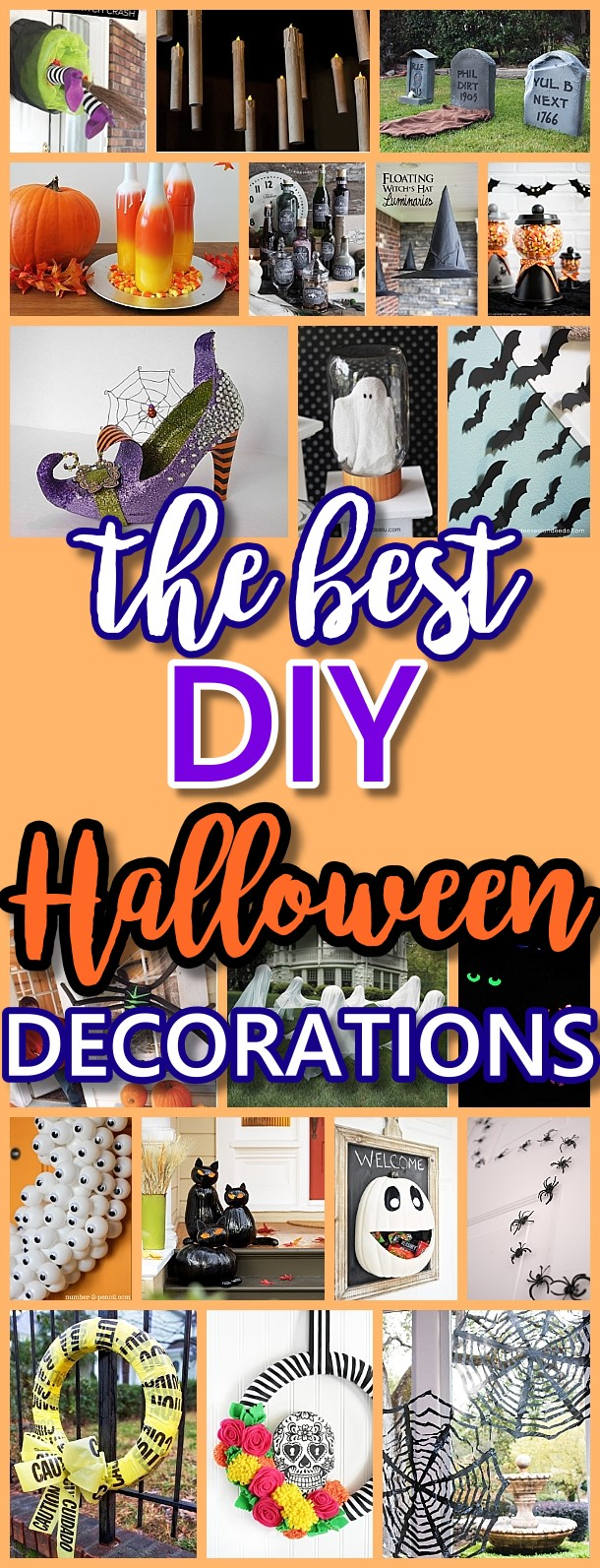 The BEST Do it Yourself Halloween Decorations {Spooktacular Halloween DIYs, Handmade Crafts and Projects!}