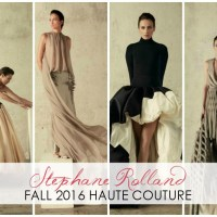 Stephane Rolland's Fall 2016 Couture Breaks the Mold