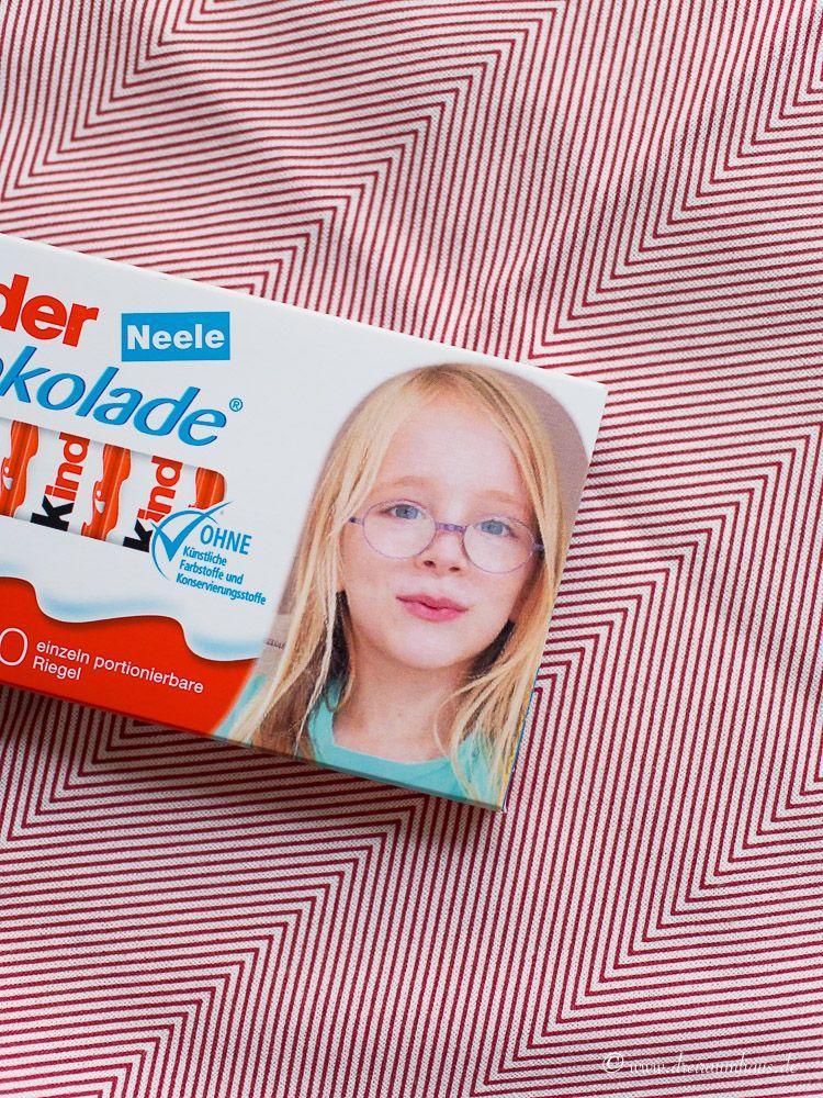 kinder Schokolade Dein Gesicht - ein süßer Gruß für Neele