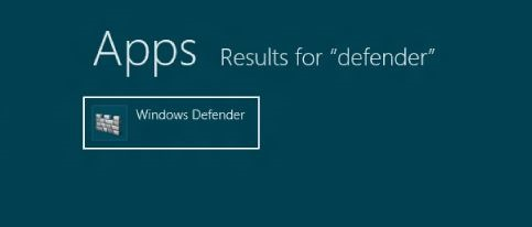 Windows Defender en Windows 8