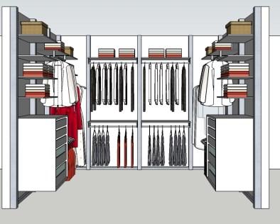 Inloopkast ontwerpen modulaire inloopkasten op maat dress a way inloopkasten op maat - Modulaire kamer ...