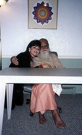 Dr. Gross and Swami Satchidananda