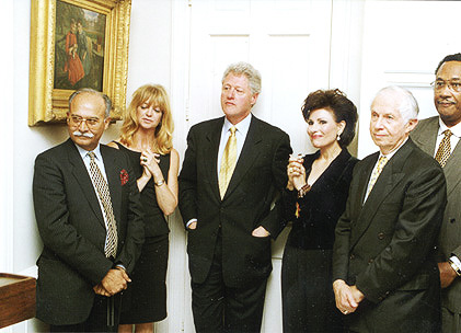 Unknown Person, Goldie Hawn, President Bill Clinton, Dr. Gross, Jenard Gross and Unknown person