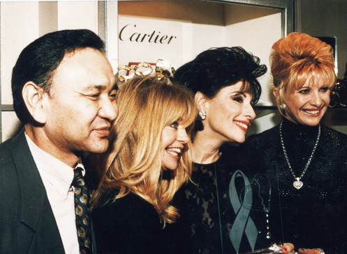 Rinchen Dharlo, Goldie Hawn, Dr. Gross and Ivanna Tromp On the occasion of Dr. Gross receiving the Spirit of Freedom Award