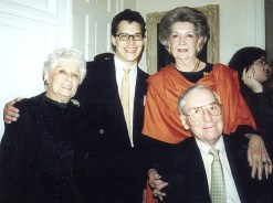 Dr. Gross' mother Ida, Shawn Gross, B.A. Bentsen and Secretary of the Treasury Lloyd Bentsen