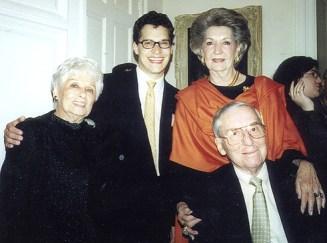 Dr. Gross' mother Ida, Shawn Gross, B.A. Bentsen and Secretary of the Treasury Lloyd Bentsen
