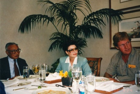 Norbu (The eldest of His Holiness), Dr. Gross, and Unknown Person in Aspen