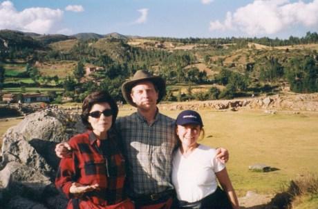 Dr. Gross, Dr. Alberto Villoldo, and Tara Guber at Machu Picchu, Peru