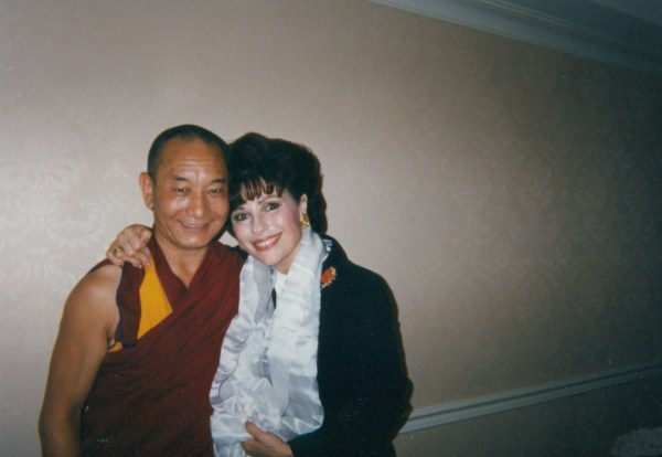 The Dalai Lama's Head Monk Pal Jor with Dr. Gross at Columbia University