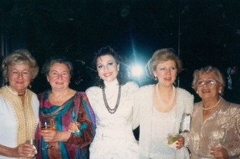 Dr. Anna De Wald (Former Dean of St. Thomas University), Ellie Stassinopoulis, Dr. Gross, Margarite Schwartz, Dr. G's Mother, Ida on the Occasion of Dr. G receiving the Great Texan award