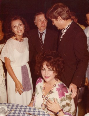 Dr. Gross, Jenard Gross, Elizabeth Taylor and Senator John Warner