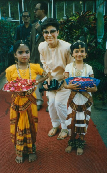 Dr. Gross with Children in Asia