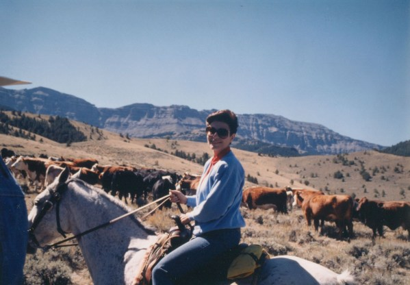 Dr. Gross Riding in Wyoming
