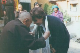 Dr. Gross and Mother Superior Nun in Tibet