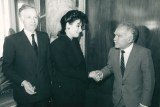 Jenard Gross, Dr. Gross, and President Yitzhak Shamir of Israel