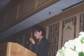 Dr. Gross receiving Good Heart Humanitarian Award from Jewish Women International