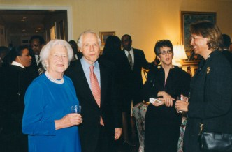 Barbara Bush, Jenard Gross, Dr. Gross at Bush Residence in Houston