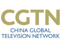 CGTN - China Global Television Network Logo linking to youtube video segment with Dr. Gross
